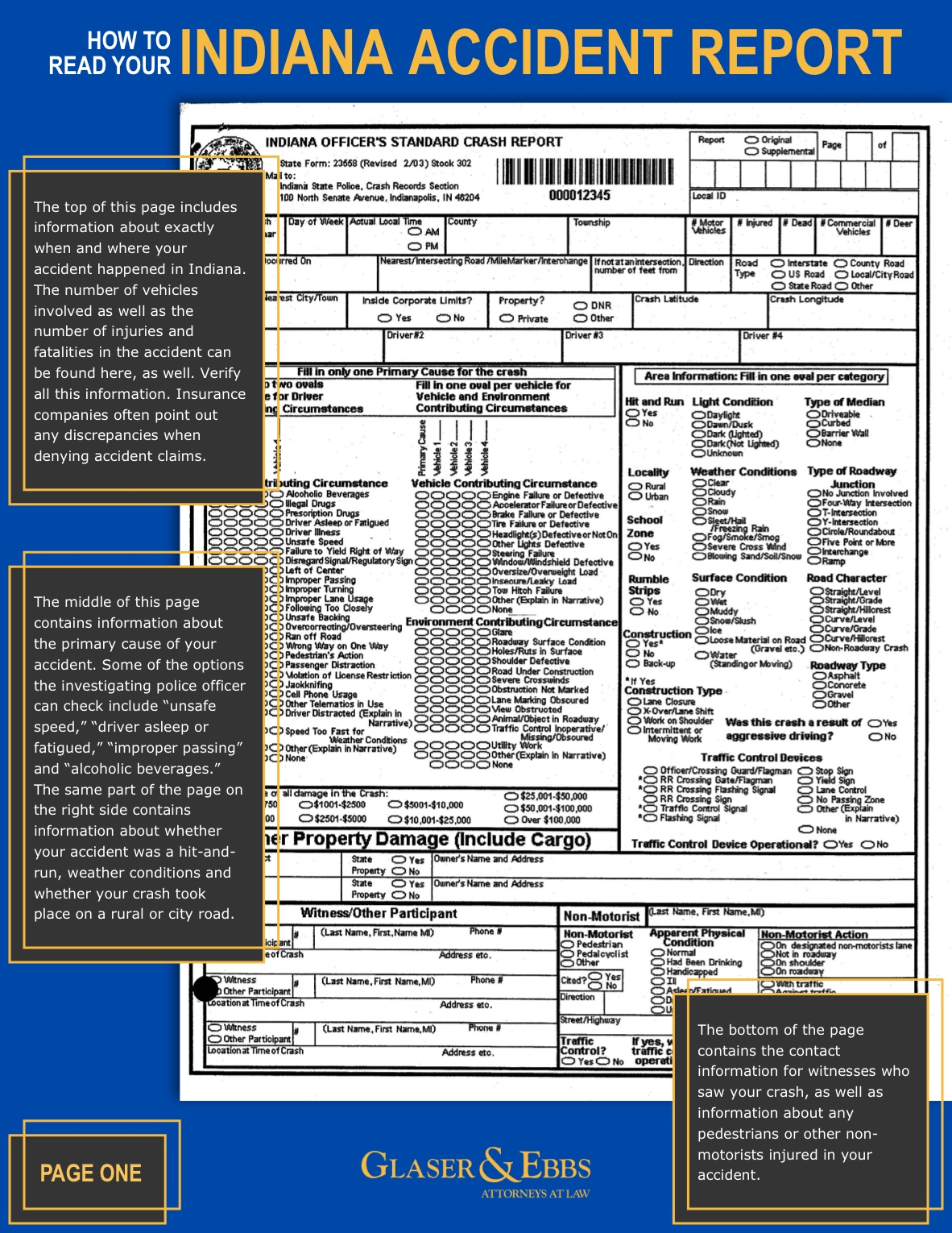 How to Read Your Accident Report pg. 1