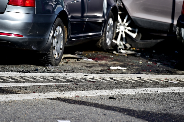 Multi-vehicle accident